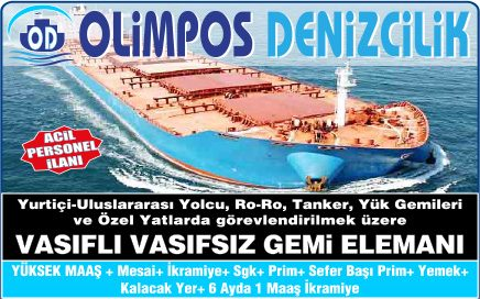 Olimpos Denizcilik Bugünkü Posta Vasıfsız İş İlanları